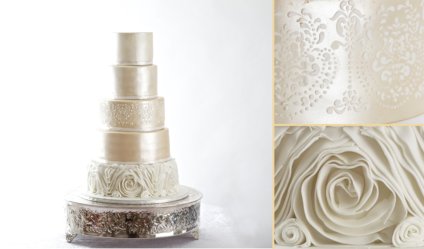 Champagne Ruffles Wedding Cake By Sweet Hollywood | Sweet Hollywood