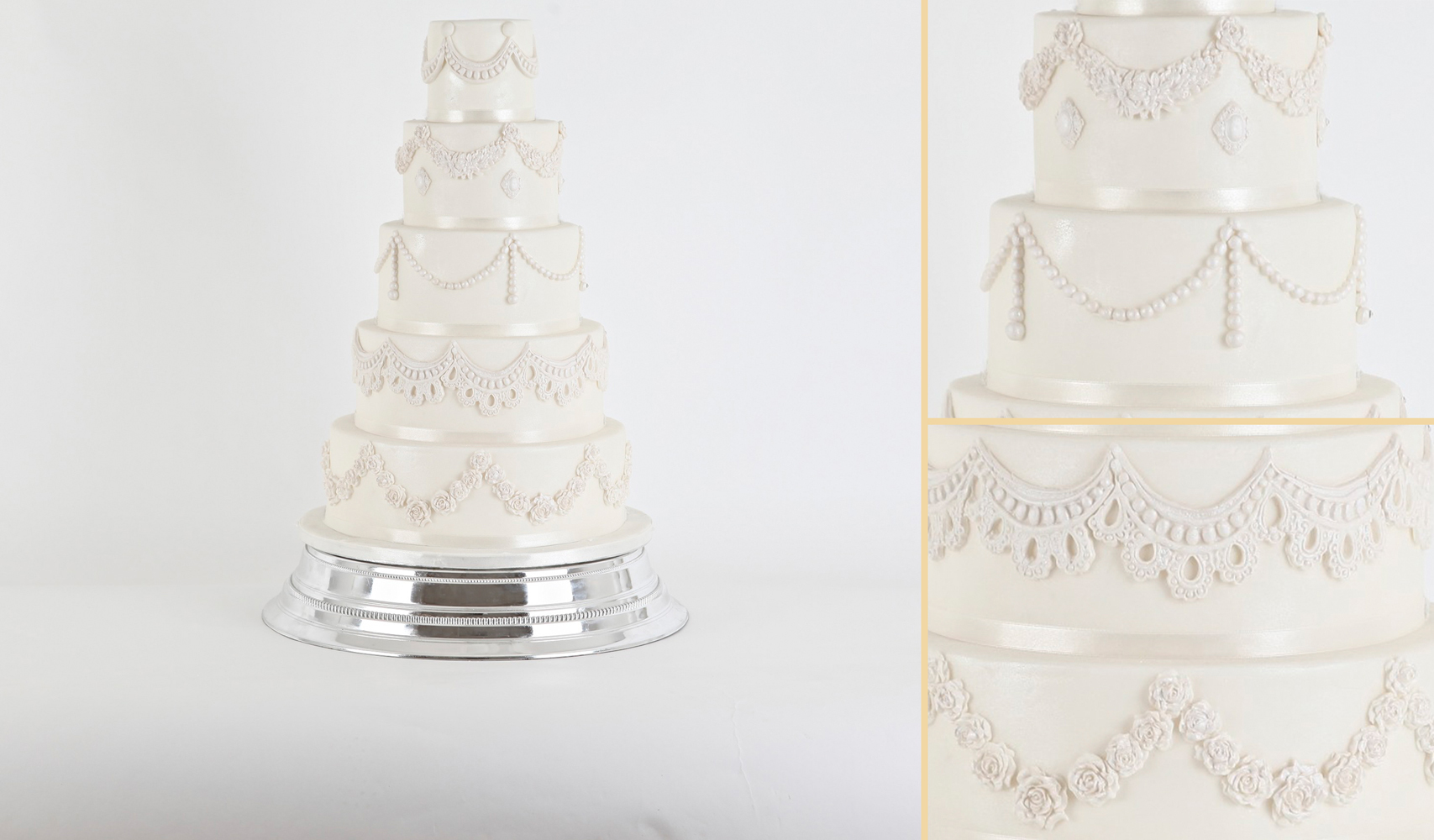 Vintage Swags Wedding Cake | Sweet Hollywood