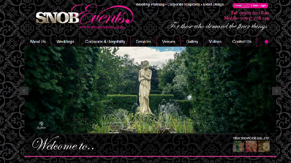 snob events web page