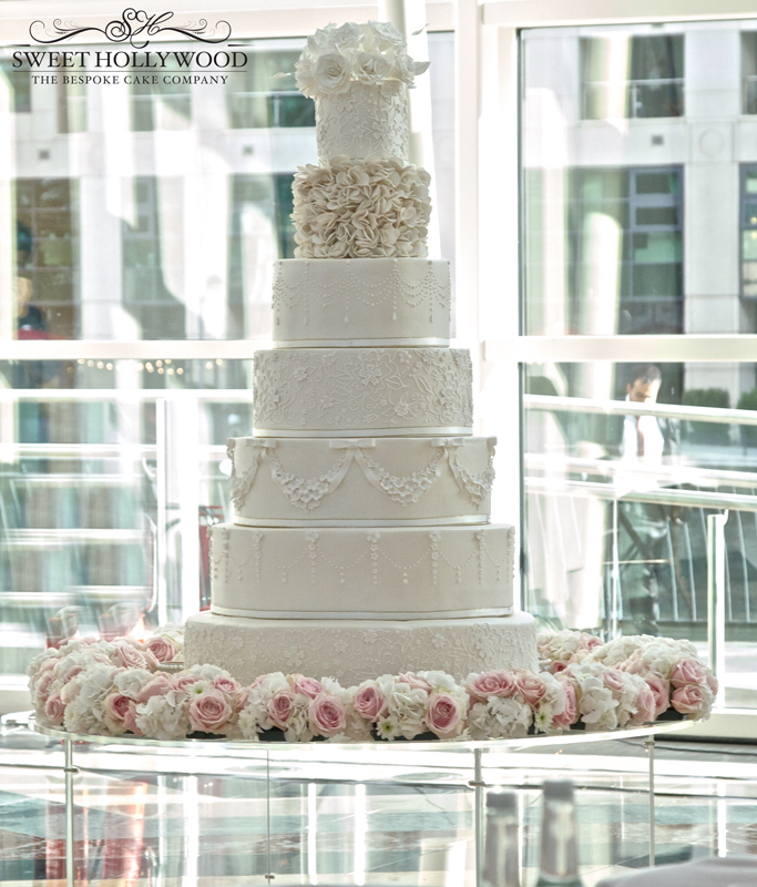 White Elegance Wedding Cake East Wintergarden Canary Wharf