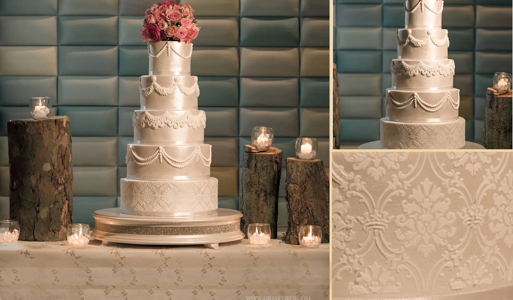 Boutique Swags Wedding Cake