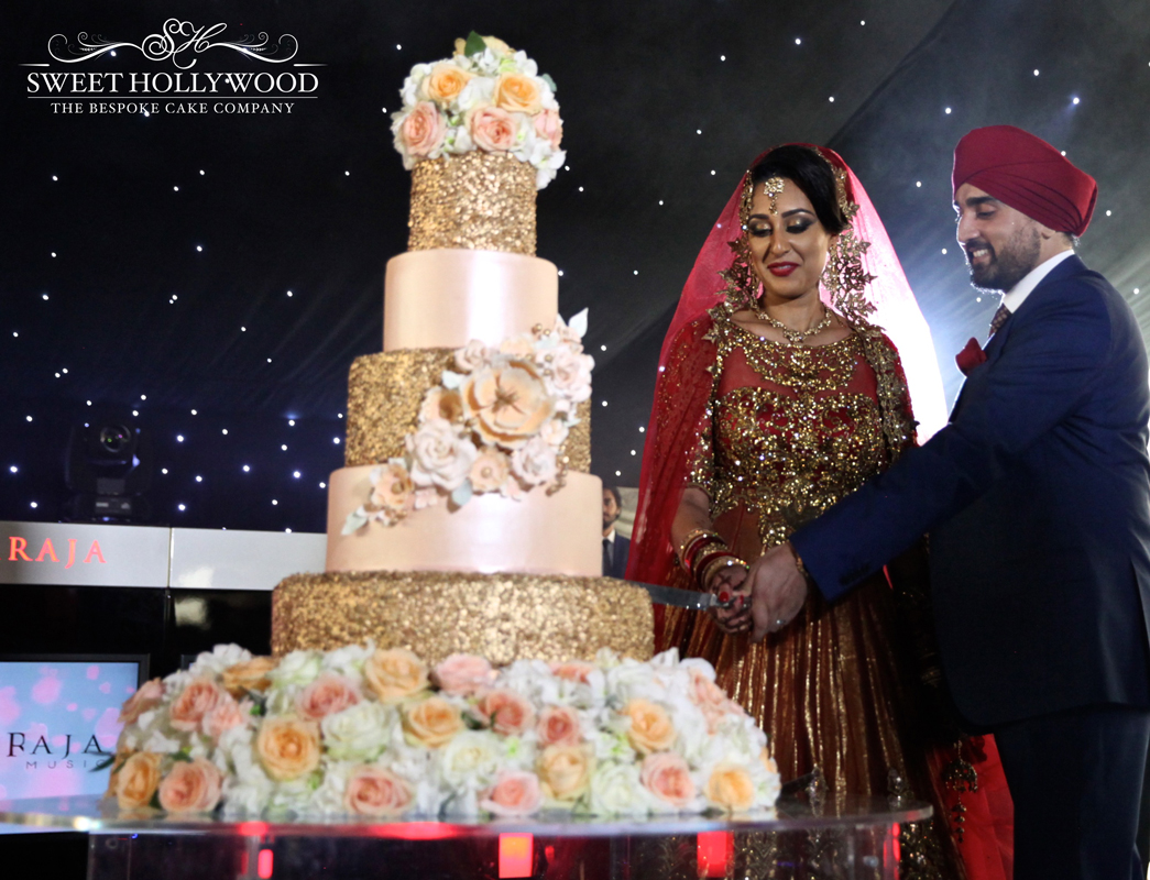 Unique Wedding Cake Renu Sweet Hollywood Drummers Delight Sikh