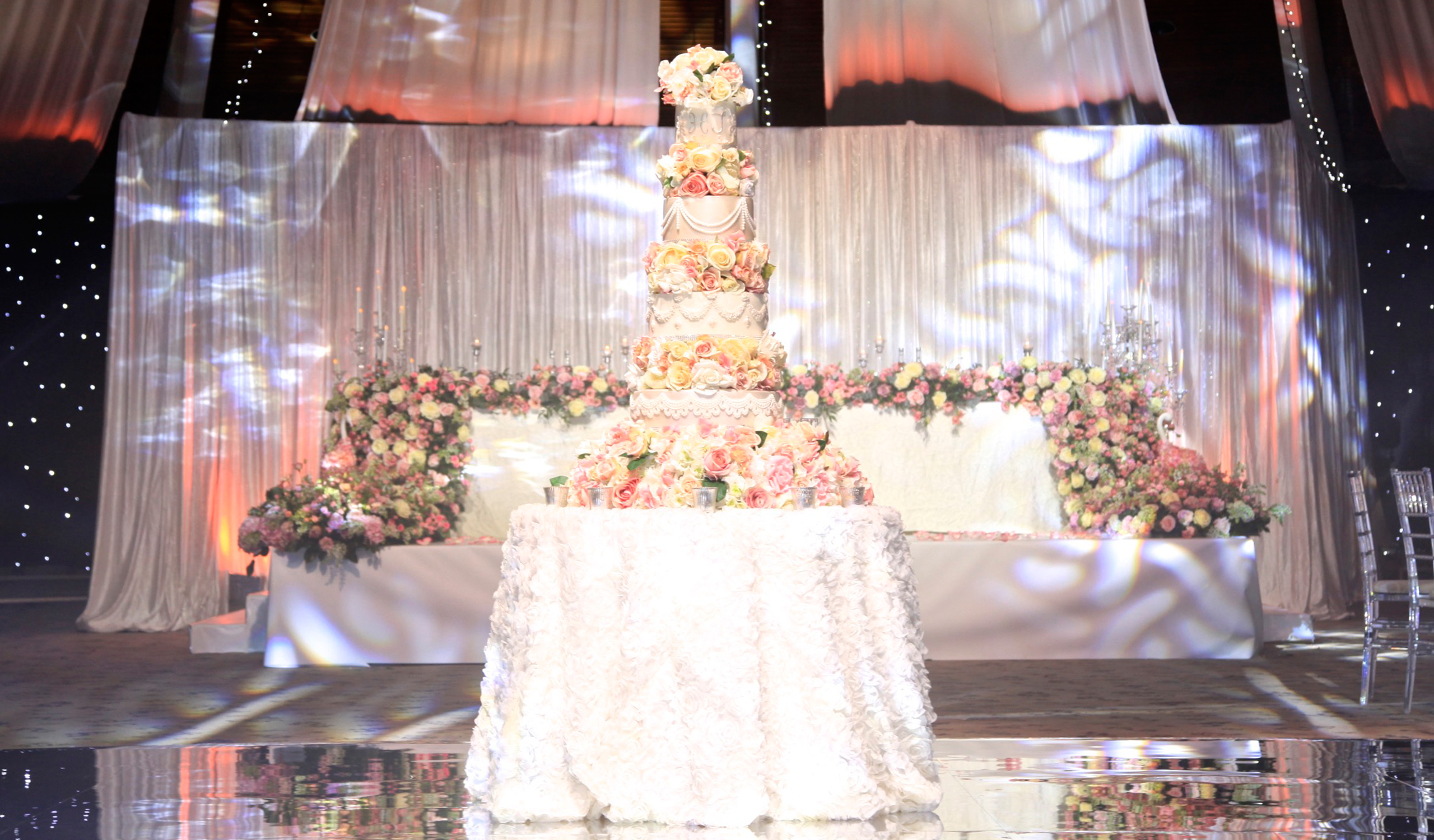 Mesmerizing Tower Wedding Cake