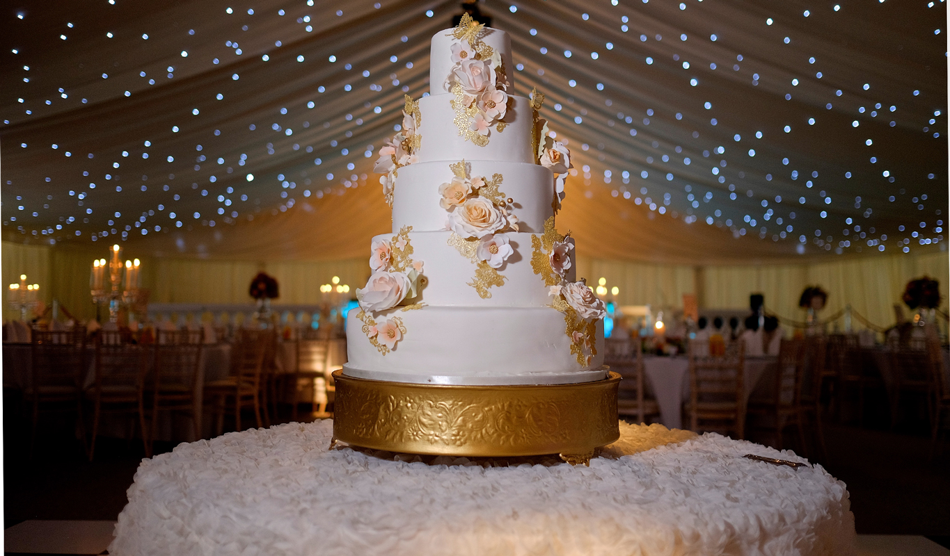 Rose Gold Wedding Cake Sweet Hollywood
