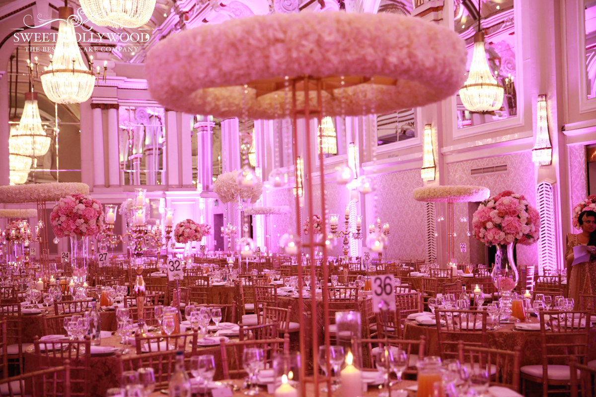 Grand wedding cake the grand connaught rooms sweet for Asian wedding room decoration