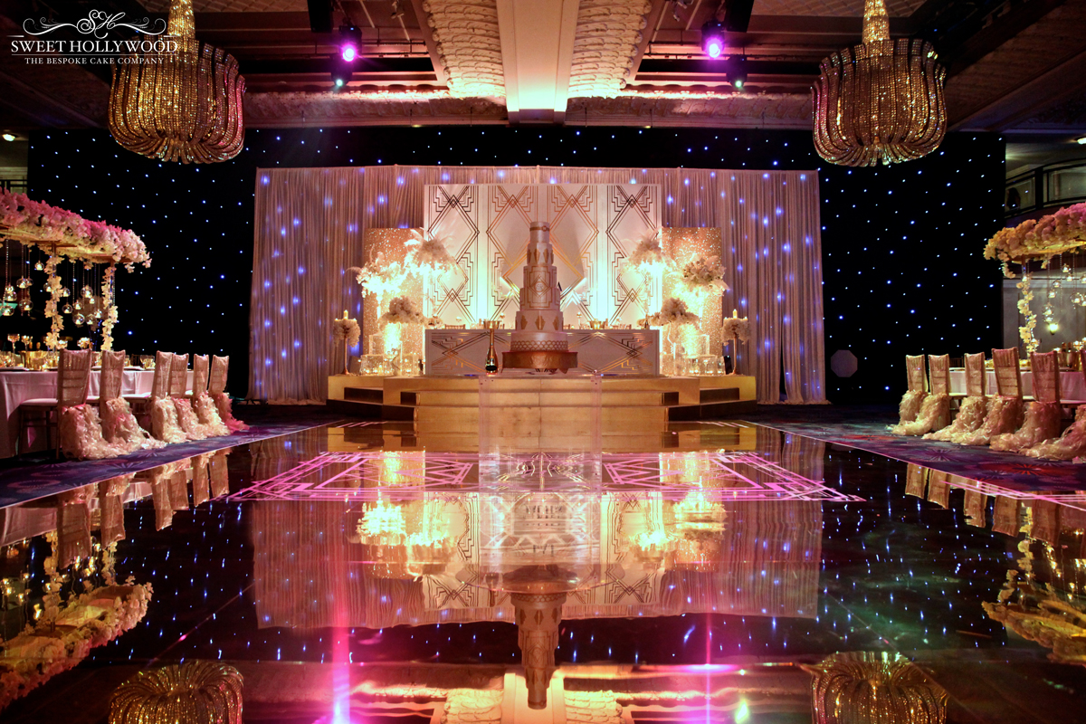 The great gatsby wedding of your dreams grosvenor house london great gatsby wedding cake junglespirit Image collections
