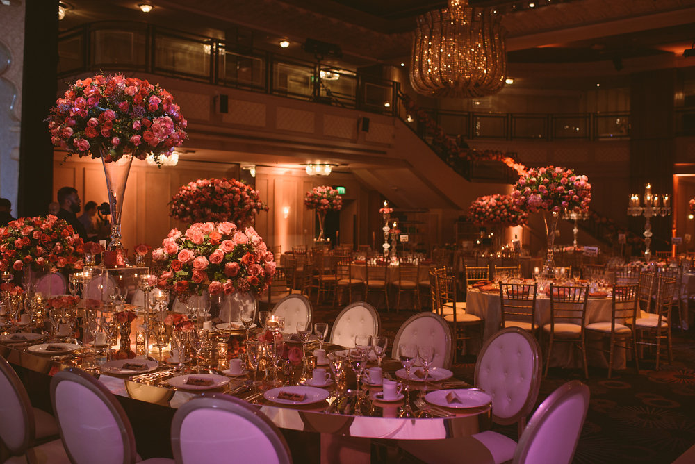 luxury wedding decor london